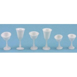 STEMWARE, WHITE, 6/PC