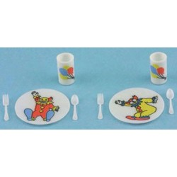 CIRCUS DISH SET, BRIGHT