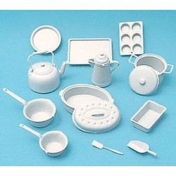 COOKWARE KIT, WHITE, 14PCS