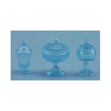 CANDY DISHES, 3PC, BLUE