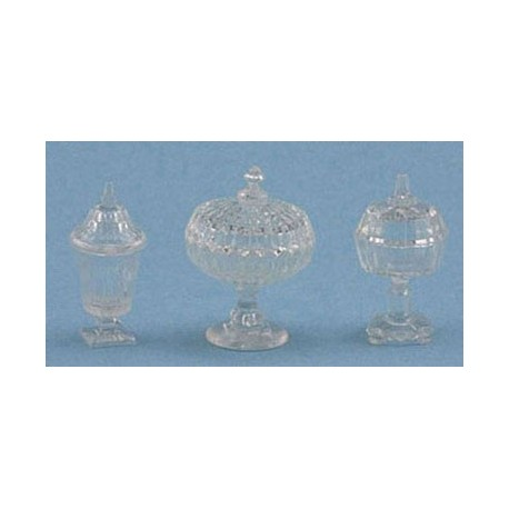 CANDY DISHES, 3PC, CLEAR