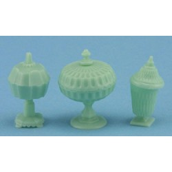 CANDY DISH SET, 3PC JADITE