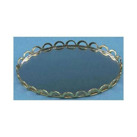 LARGE MIRRORED TRAY-GOLD