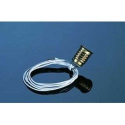 SCREW-BASE BULB SOCKET (BLACK WIRE)