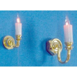 SINGLE-CANDLE WALL SCONCE 1/2 SCALE