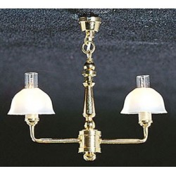 &MH722: 2 UP-ARM BELL SHADE CHANDELIER