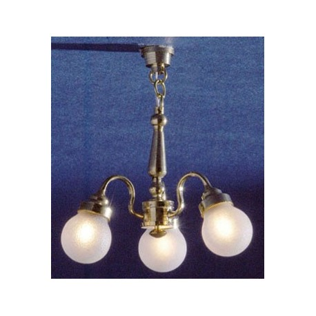 CHANDELIER 3-ARM FROSTED GLOBE