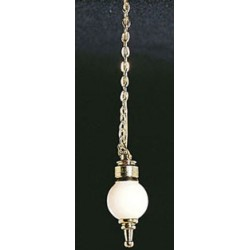 &MH876: HANGING LAMP W/REMOVABLE GLOBE