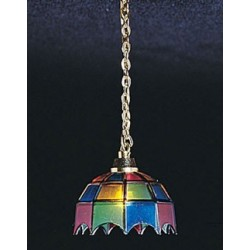 &MH601: COLORED TIFFANY HANGING LAMP
