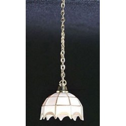 &MH600: WHITE TIFFANY HANGING LAMP
