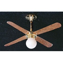 &MH877: CEILING FAN W/REMOVABLE GLOBE