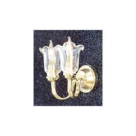 &MH854: DUAL CL TULIP WALL SCONCE