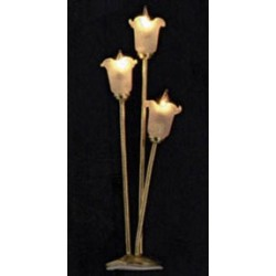 &MH710: 3-ARM TULIP SHADE FLOOR LAMP