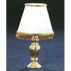 &MH602: FRINGED SHADE TABLE LAMP