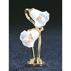 &MH672: DUAL TULIP SHADE DESK LAMP