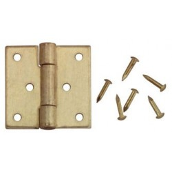 BUTT HINGES W/NAILS, 4/PK