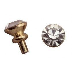 &HW1144: CRYSTAL DOOR KNOB, 6/PC