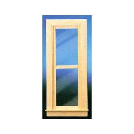 Narrow nonworking window w trim dollhouse windows for Narrow windows for sale