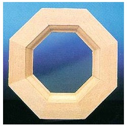 &HW5045: OCTAGON WINDOW W/PANE & TRIM