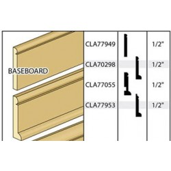 BASEBOARD W/QTR ROUND