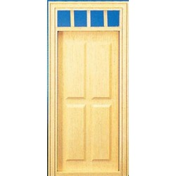 &HWH6001: 1/2 SCALE 4-PANEL PREHUNG DOOR