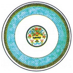 8 Piece Bombay Paper Plate Table Setting
