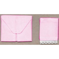 FITTED CRIB SHEET-PINK