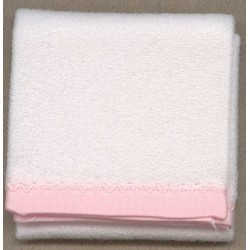 BLANKET 1 PC WHITE/PINK