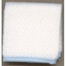 BLANKET 1 PC WHITE/BLUE