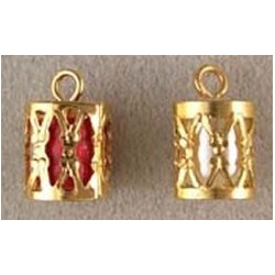 SSN: GOLD DRUM ORNAMENTS, 2/PK