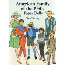 AMERICAN FAMILY OF THE 1950'S PAPER DOLL