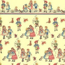 6 pack Wallpaper, Children On Dark Cream