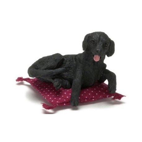 SITTING LABRADOR, BLACK