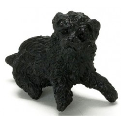 SITTING POODLE, BLACK