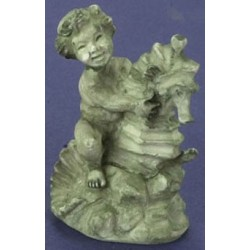 BOY ON  SEAHORSE GREEN 1PC