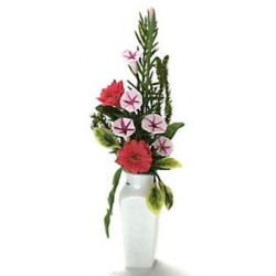 ARRANGEMENT IN WHITE VASE