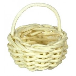 SMALL ROUND BASKET, 6PC, WHITE