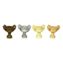"1/2"" SCALE ANCIENT URN, 6PC, IVORY"