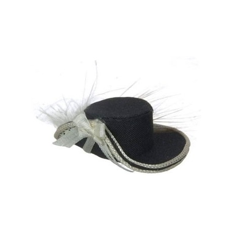 LADIES HAT, BLACK & WHITE