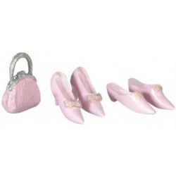 SHOES, 2 PAIRS, W/PURSE, PINK