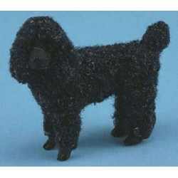 STANDING POODLE BLACK W/HAIR