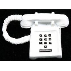 WHITE PUSH BUTTON PHONE