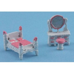 "1/144"" SCALE PINK BEDROOM SET"