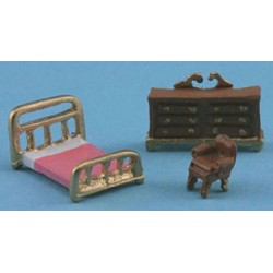 "1/144"" SCALE BRASS BEDROOM SET"