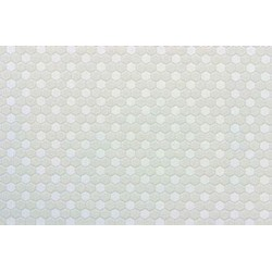 TILE: HEXAGONS, 12X16, WHITE, JR400