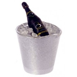BOTTLE OF CHAMPAGNE IN BUCKET OF ICE
