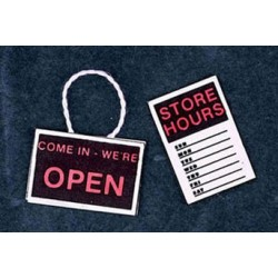 OPEN/CLOSE REVERSIBLE STORE HOUR SIGN