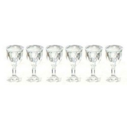 CUT STEMWARE, EMPTY SET, 6