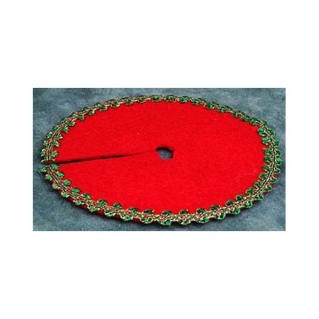 RED XMAS TREE SKIRT