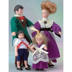 VICTORIAN FAMILY OF 4